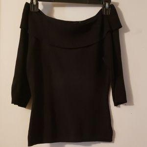 Tops - Black over the shoulder top
